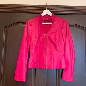Leather Danier Fuchsia Coat Size XS...Fit Small